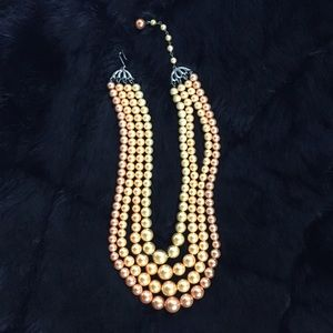 Jewelry - Vintage 4-strand multicolored pearl necklace